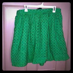 Green patterned skirt